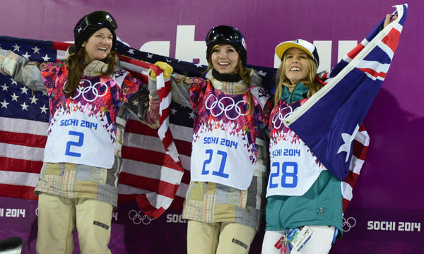 Kelly Clark, Kaitlyn Farrington, Torah Bright