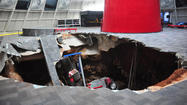 Sinkhole swallows Corvettes at the National Corvette Museum in Kentucky
