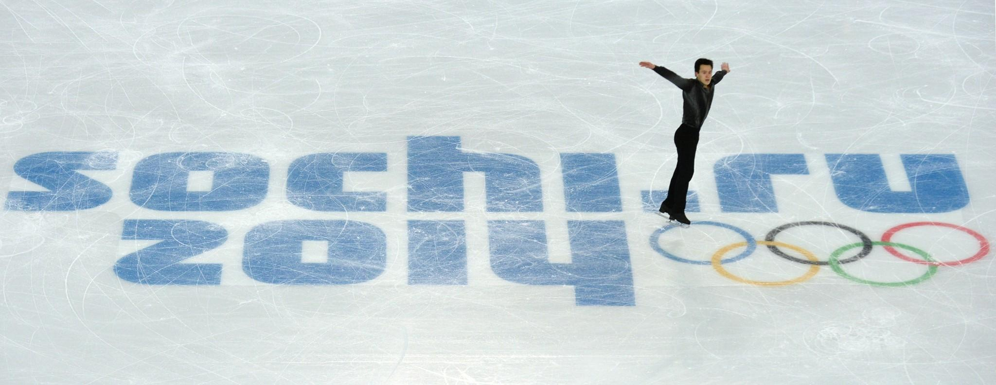 Canada's Patrick Chan his short program during the team competition.