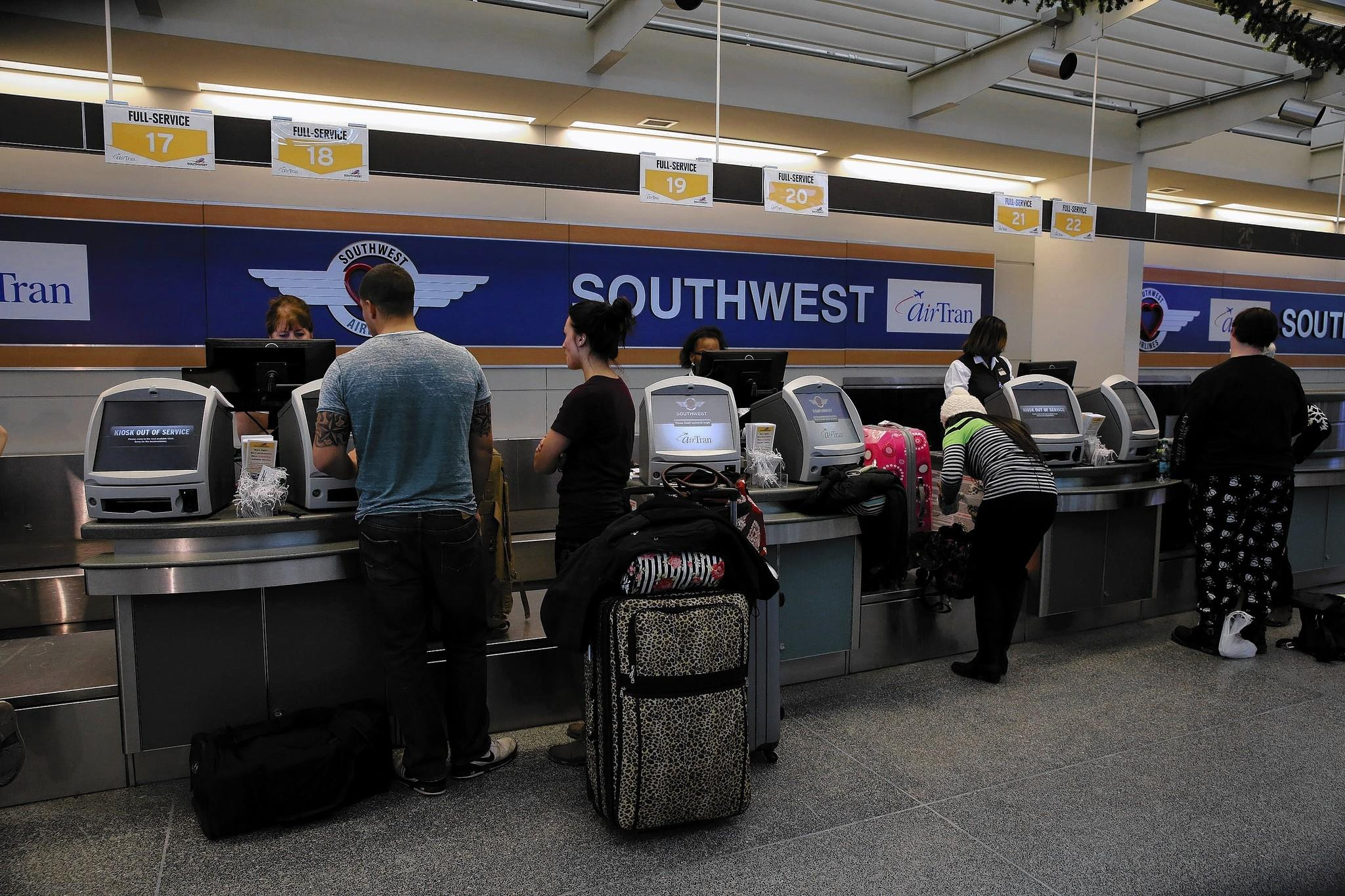 The primary reason for Southwest Airlines' on-time problems is its plan to reduce allowed times for flights and to crunch its gate turnaround times.