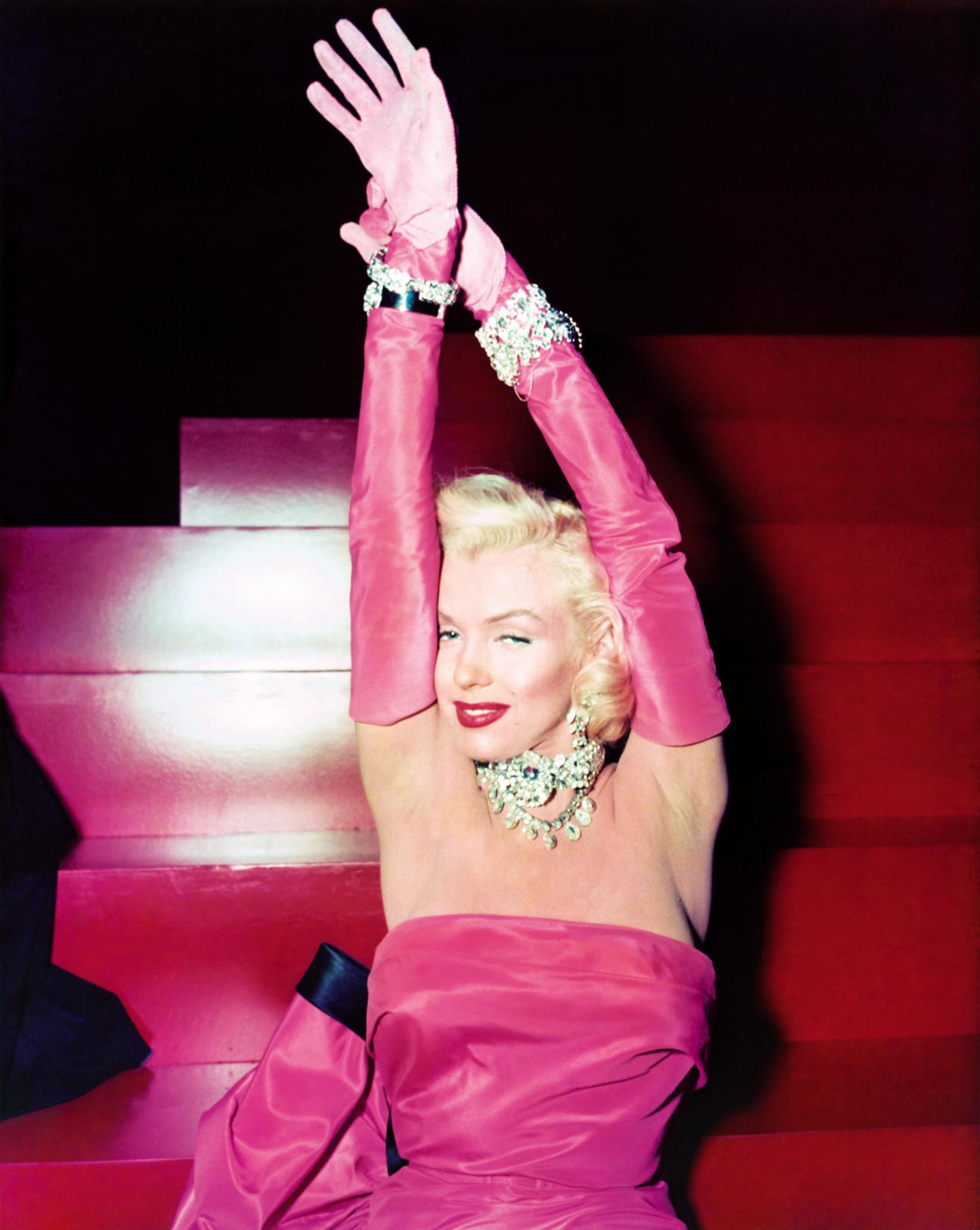 Marilyn Monroe On The Set Of 1953 Film Gentlemen Prefer Blondes Based