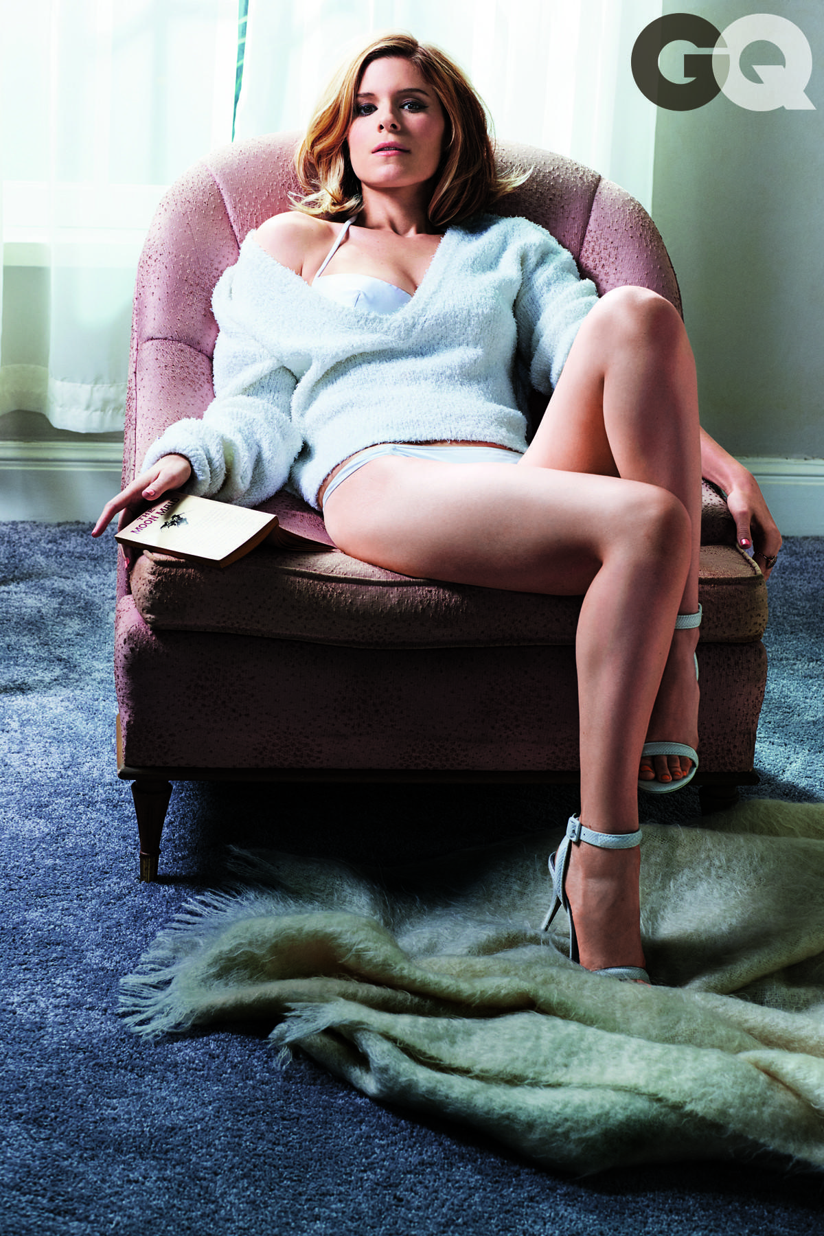 Kate Mara poses in the March issue of GQ.