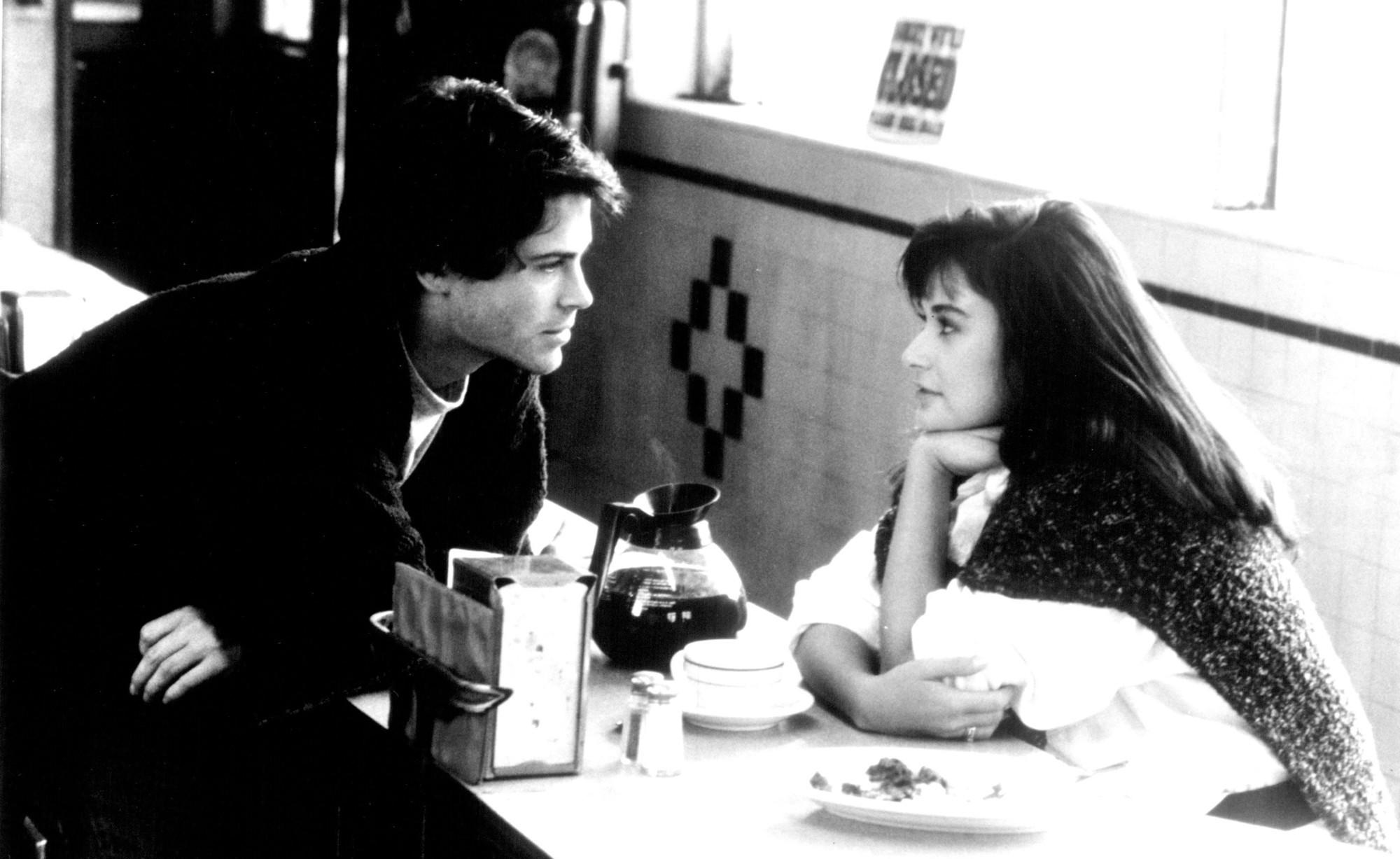 "Rob Lowe and Demi Moore in the 1986 comedy ""About Last Night..."""