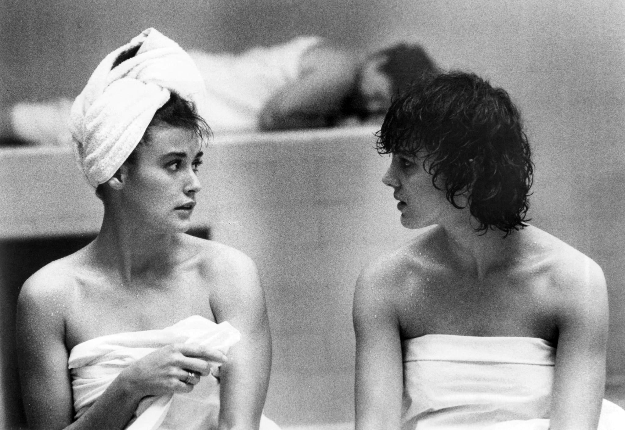 "Demi Moore and Elizabeth Perkins in the 1986 comedy ""About Last Night..."""