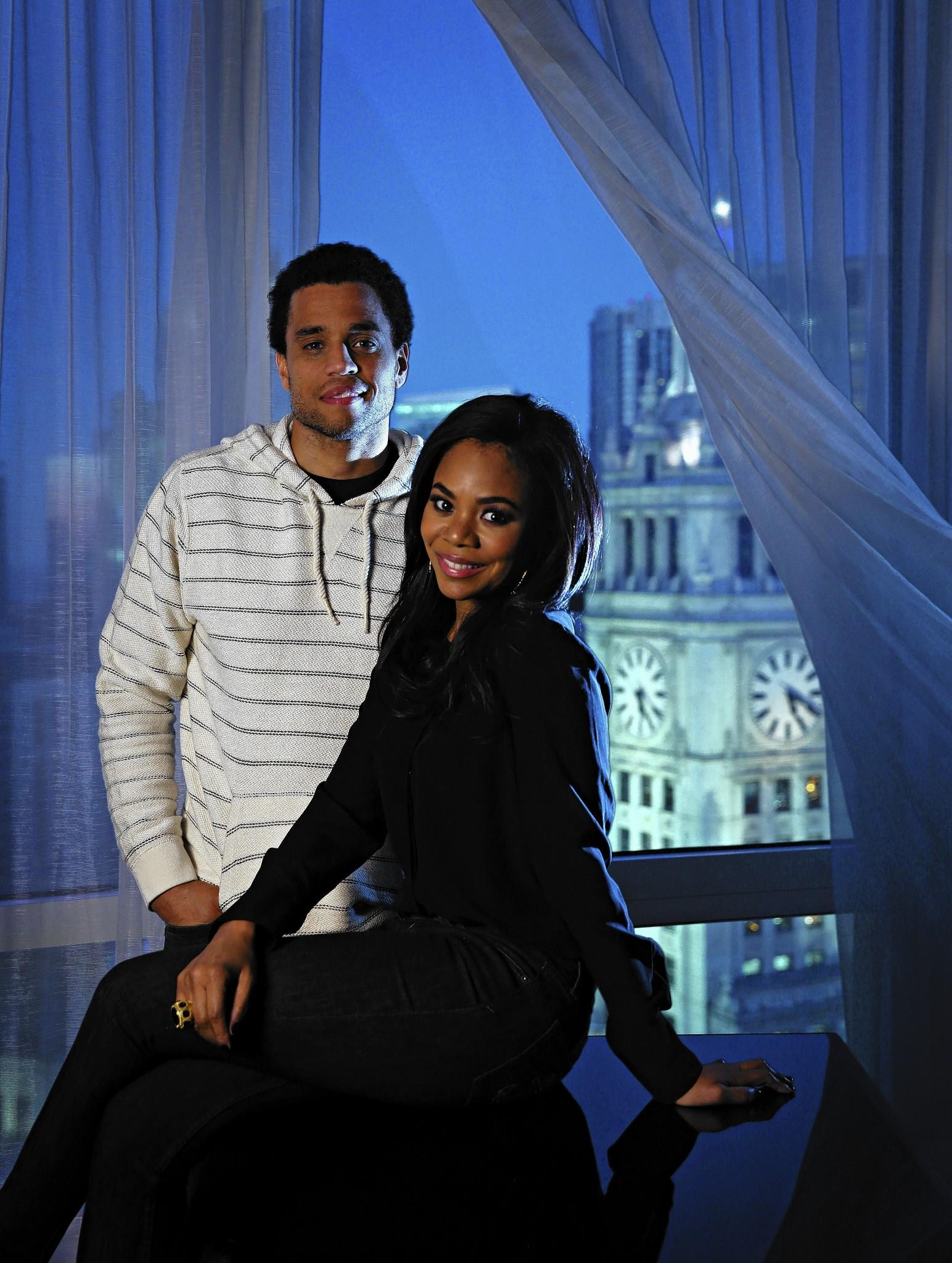 """Michael Ealy and Regina Hall, stars of """"About Last Night."""""""