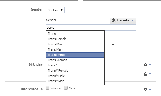 gender options on facebook essay The social media site's increasing of personal gender options to more than 50, including trans categories, has been hailed by some but it would have been braver to remove gender completely - and spare us gender-targeted ads.