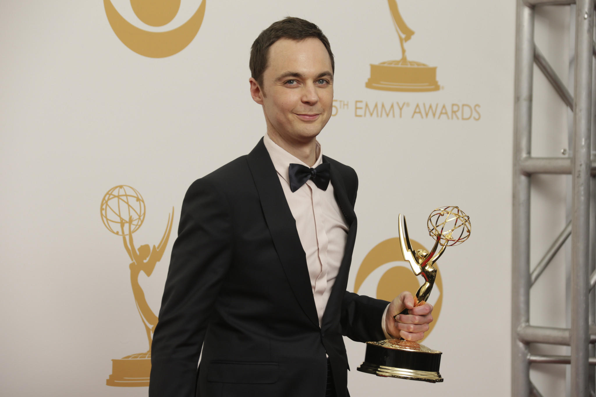 Jim Parsons at the 65th Annual Primetime Emmy Awards.