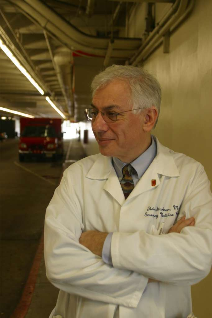 Dr. Sidney Starkman, coauthor of a clinical trial that tested a stroke treatment across Los Angeles, awaits a stroke victim at the UCLA Medical Center. The trial dramatically changed stroke care in the Southland.