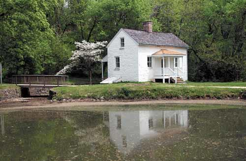 Lockhouse 8 recently reopened as a river center.
