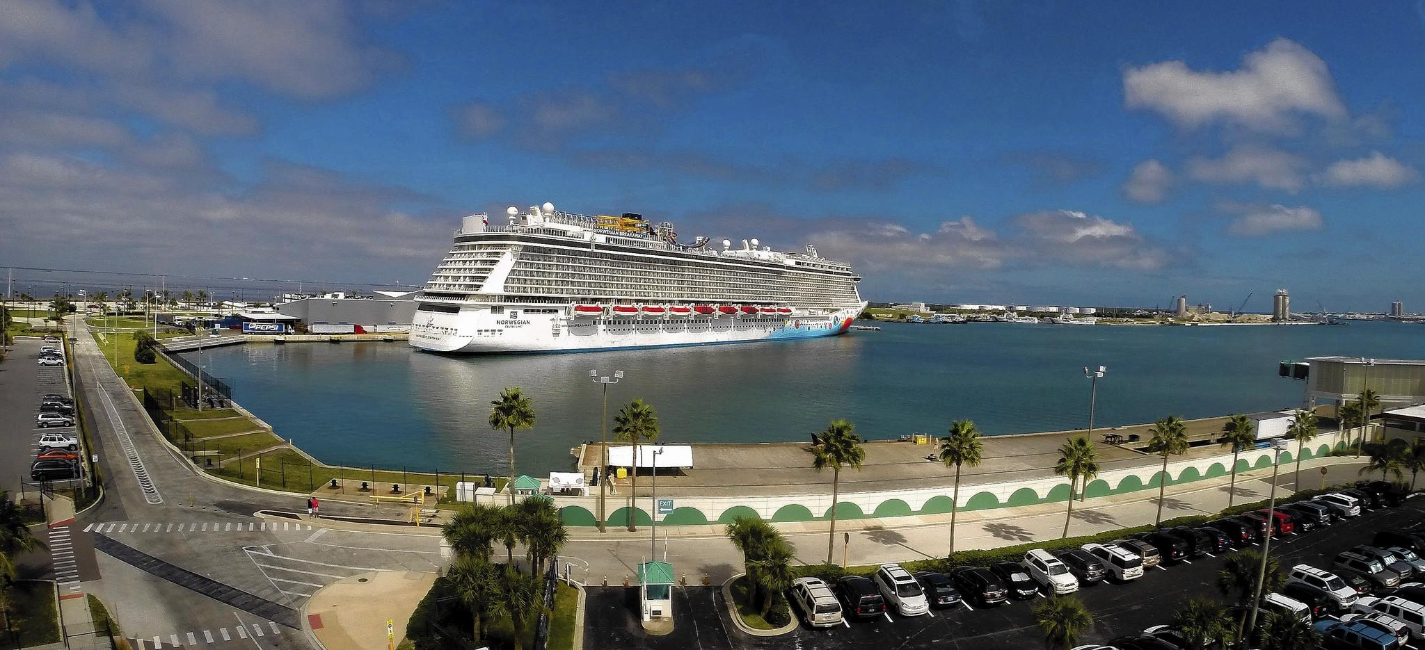 The new Norwegian Cruise Lines ship Breakaway, making its first docking at Port Canaveral, Tuesday, October 15, 2013.