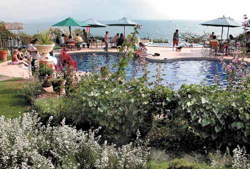 The Hotel Atitlan pool