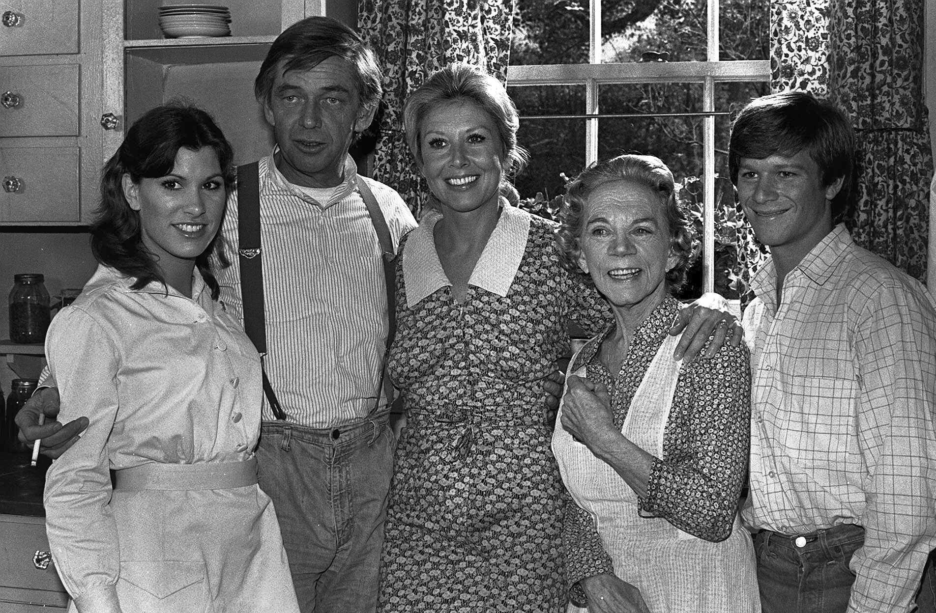 "Ralph Waite, second from left, played patriarch John Walton on ""The Waltons,"" which aired on CBS from 1972 to 1981."