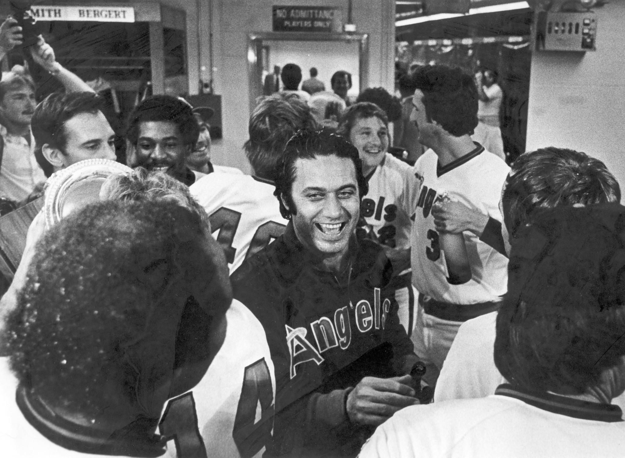 Manager Jim Fregosi is shown after the Angels won the American League West Division Championship in 1979.