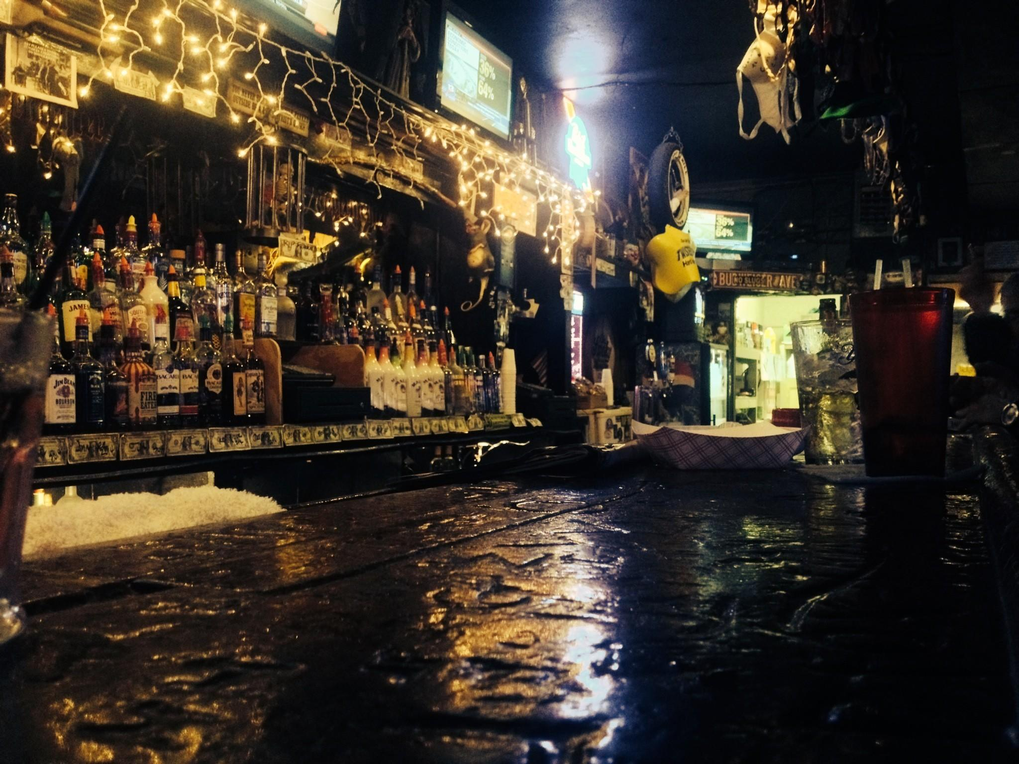 If bar tops could talk: Boot Hill Saloon caters to bikers (and race fans) on Main Street in Daytona Beach.