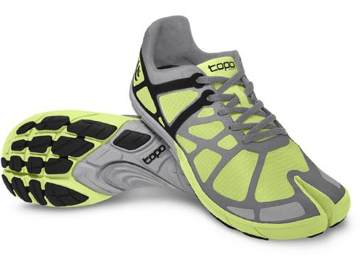 This shoe takes on the five-toed competition but uses a split-toe design that separates the big toe only. This allows the toe to move independently and work as a stabilizer while running.