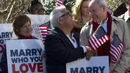Pictures: Gay marriage ban overturned