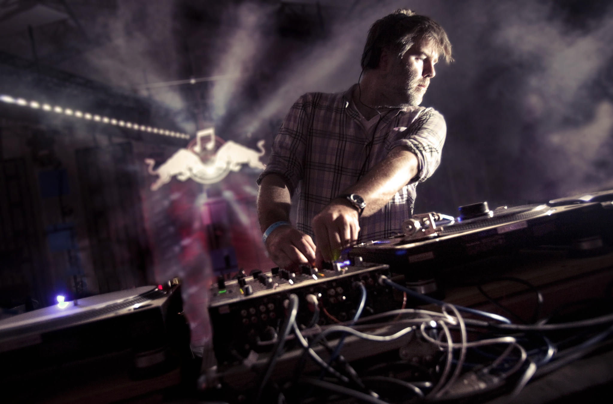 "Headliner artist ""James Murphy"" preforms on the Red Bull Music Academy ""Discoteque"" stage and features prominently in the film ""What Difference Does It Make."""