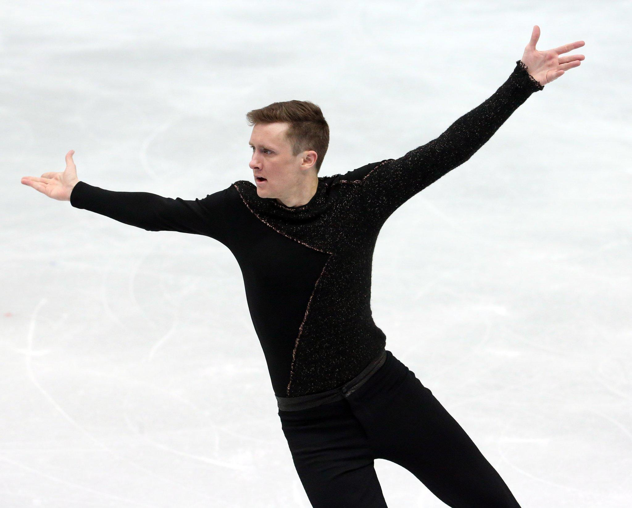 Jeremy Abbott Friday during the men's figure skating competition.