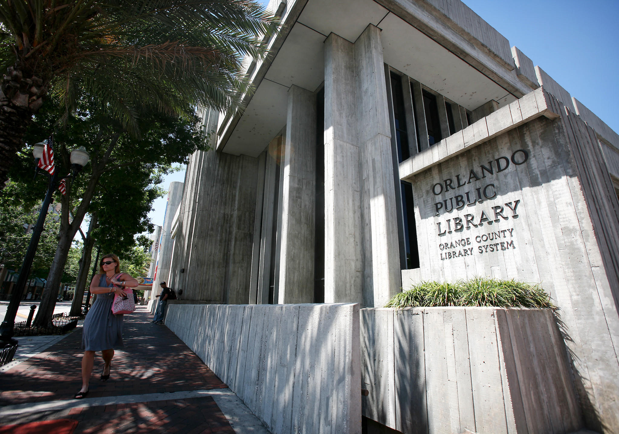 The Orange County Public Library downtown Orlando photographed April 4, 2012.