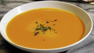 Carrot ginger orange soup