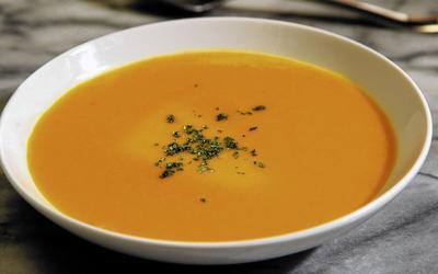 Carrot ginger orange soup