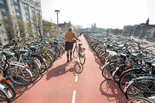 In Amsterdam, many residents own more than one bike.
