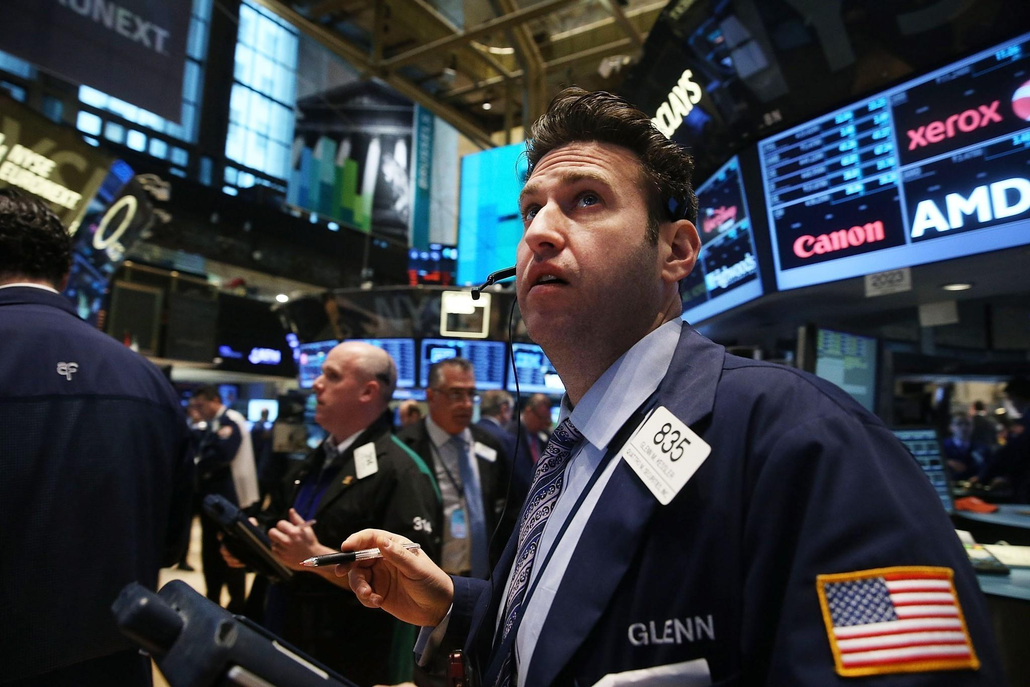 "High levels of cortisol, the stress hormone, may contribute to the risk aversion and ""irrational pessimism"" found among bankers and fund managers during financial crises, according to a new study. The photo shows the New York Stock Exchange."