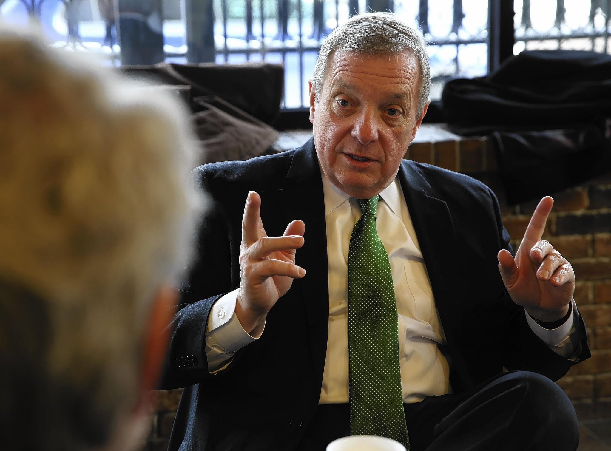 """I have always been critical and skeptical of fast-tracking,"" U.S. Sen. Dick Durbin said."