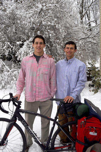 Kevin Payne, 18, left, will cycle across the country this spring to raise money and awareness for Williams syndrome, a neurodevelopmental genetic disorder that his brother, Jacob, 21, right, was diagnosed with just before turning 3 years old.