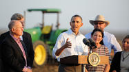 In drought-stricken Central Valley, Obama calls for cooperation