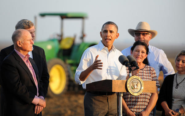 President Obama discusses California drought