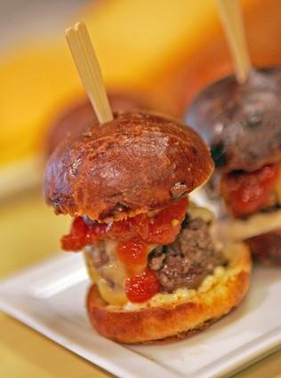 <b>HIGH POINTS:</b> Above, Kobe sliders at Cut steakhouse. Below, Stonehill Tavern's Kobe burger.