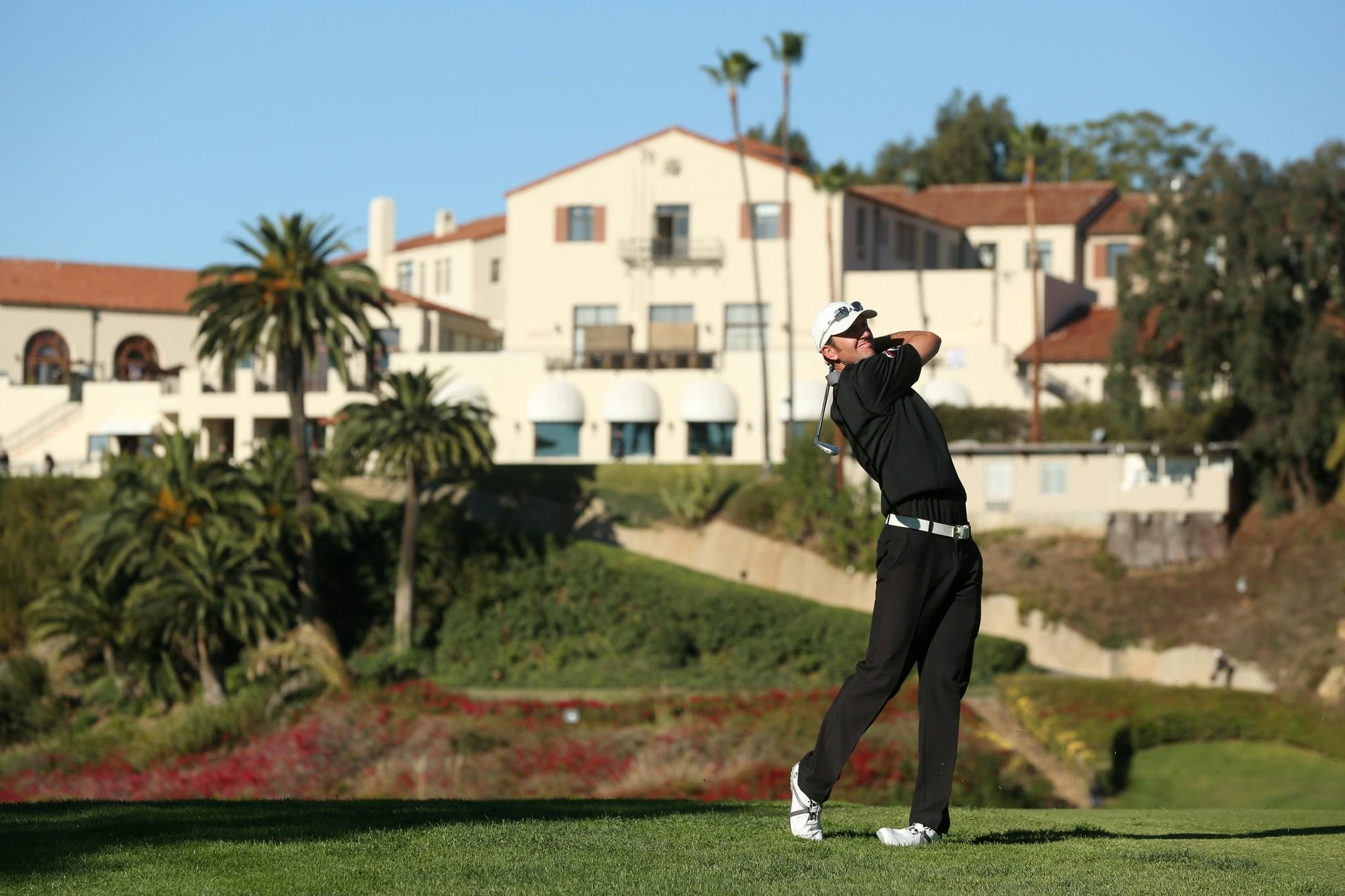 Jason Alred nearly toppled the course record at the Riviera Country Club on Friday during the second round of the Northern Trust Open. He finished with a seven-under 64, the record is 61.