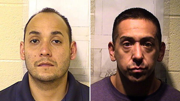 Juan Vasquez, left, and Paul Clavijo each pleaded guilty Jan. 22 to a single felony count official misconduct.