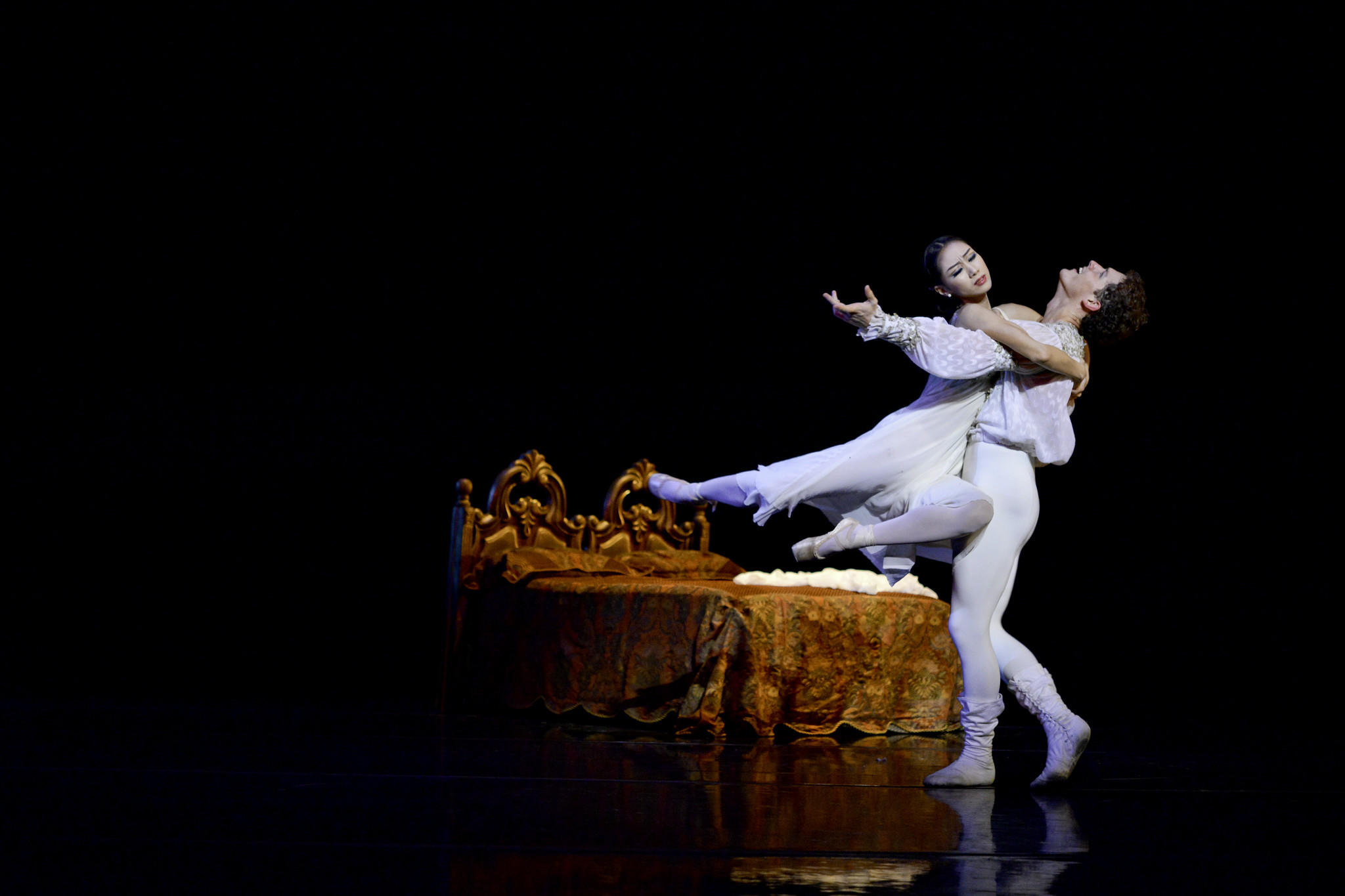 "Areum Chung and David Kiyak in Orlando Ballet's ""Romeo and Juliet"""