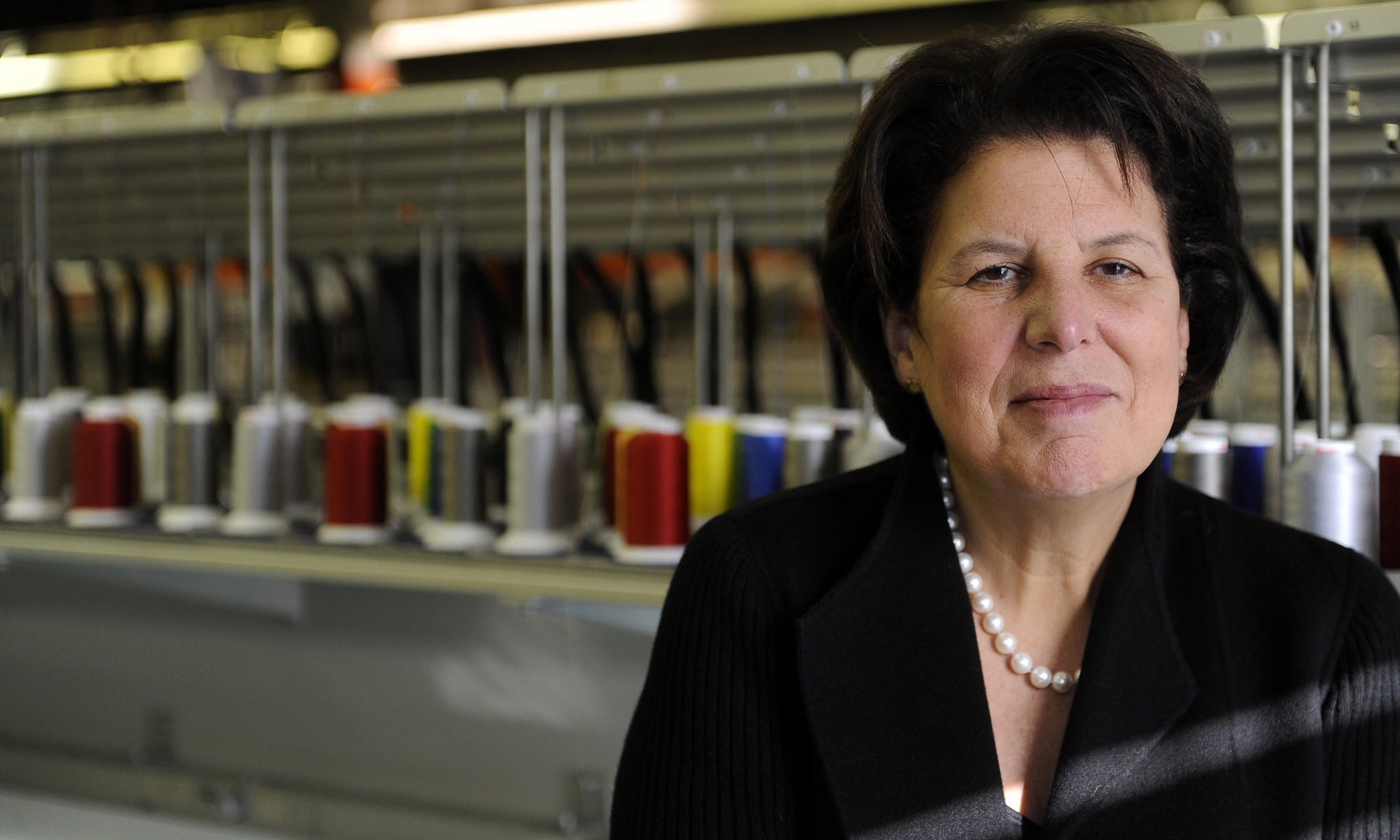 Owings Mills , MD--Nov. 20, 2013--This is Susan J. Ganz, CEO of Lion Brothers Company Inc., which makes emblems. staff photo/ Barbara Haddock Taylor/Baltimore Sun