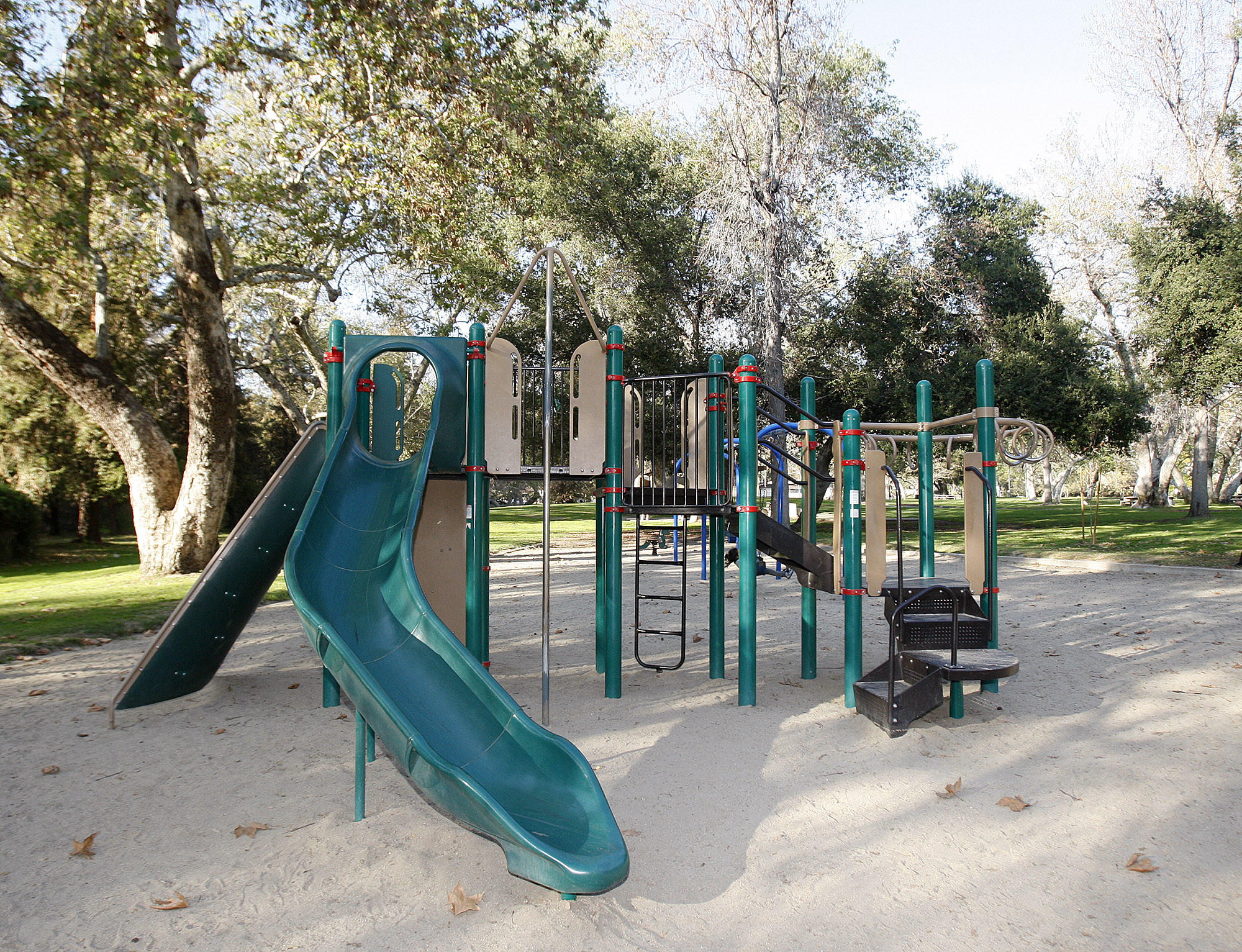 Playground equipment at Verdugo Park, donated by the Americana at Brand to Glendale as part of citywide upgrades to parks, pictured on Friday, Feb, 14, 2014.