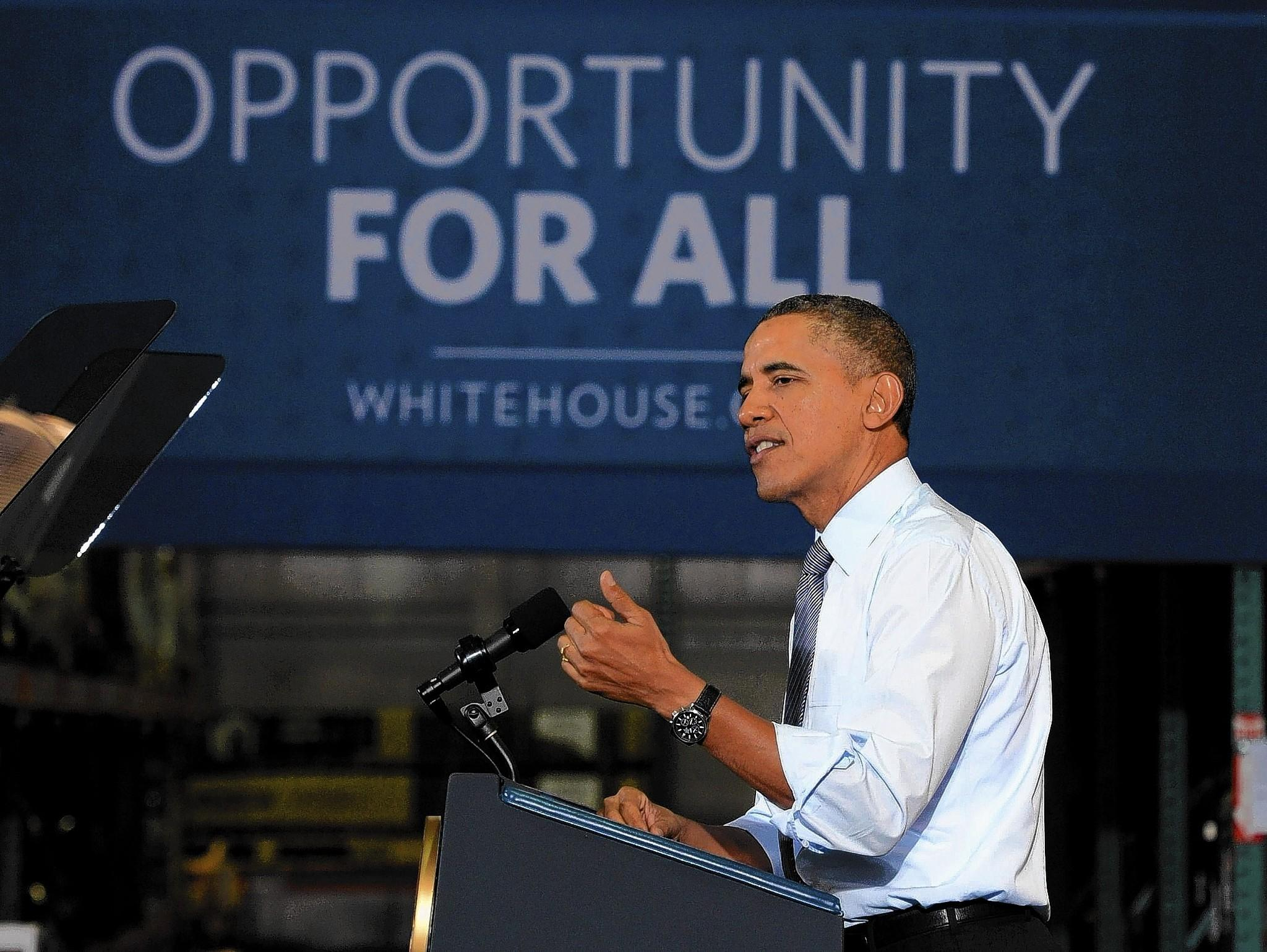 President Barack Obama, speaking at a Costco store, backs a minimum-wage increase.