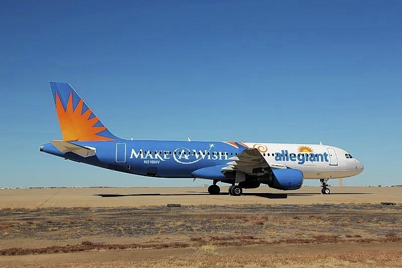 Allegiant has added a Make-A-Wish themed plane to its stable of aircraft.