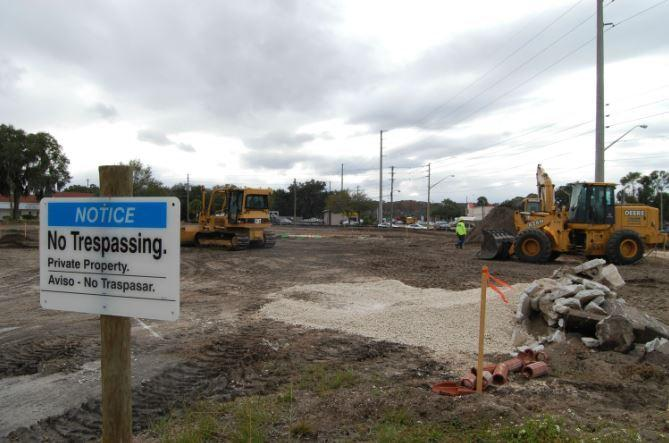 Duke Energy is building a substation on U.S. Highway 441 next to the offices of the Lake County school district.