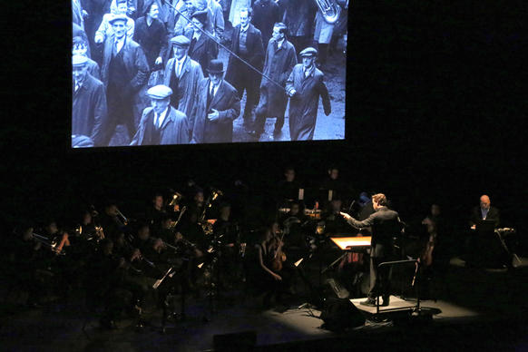 "Bill Morrison's ""The Miners' Hymns,"" a documentary about coal workers in northeast England last century, rolls as Ryan McAdams conducts the score at Royce Hall."