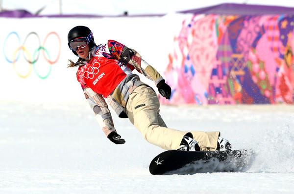 American Lindsey Jacobellis failed to make the final of the women's snowboard cross at the Sochi Olympics on Sunday but did win the consolation final at Rosa Khutor Extreme Park.