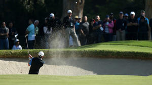 Play is slow during Northern Trust Open
