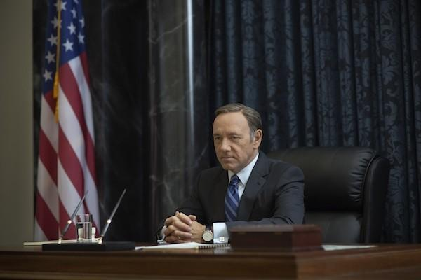 Kevin Spacey presides over the senate.