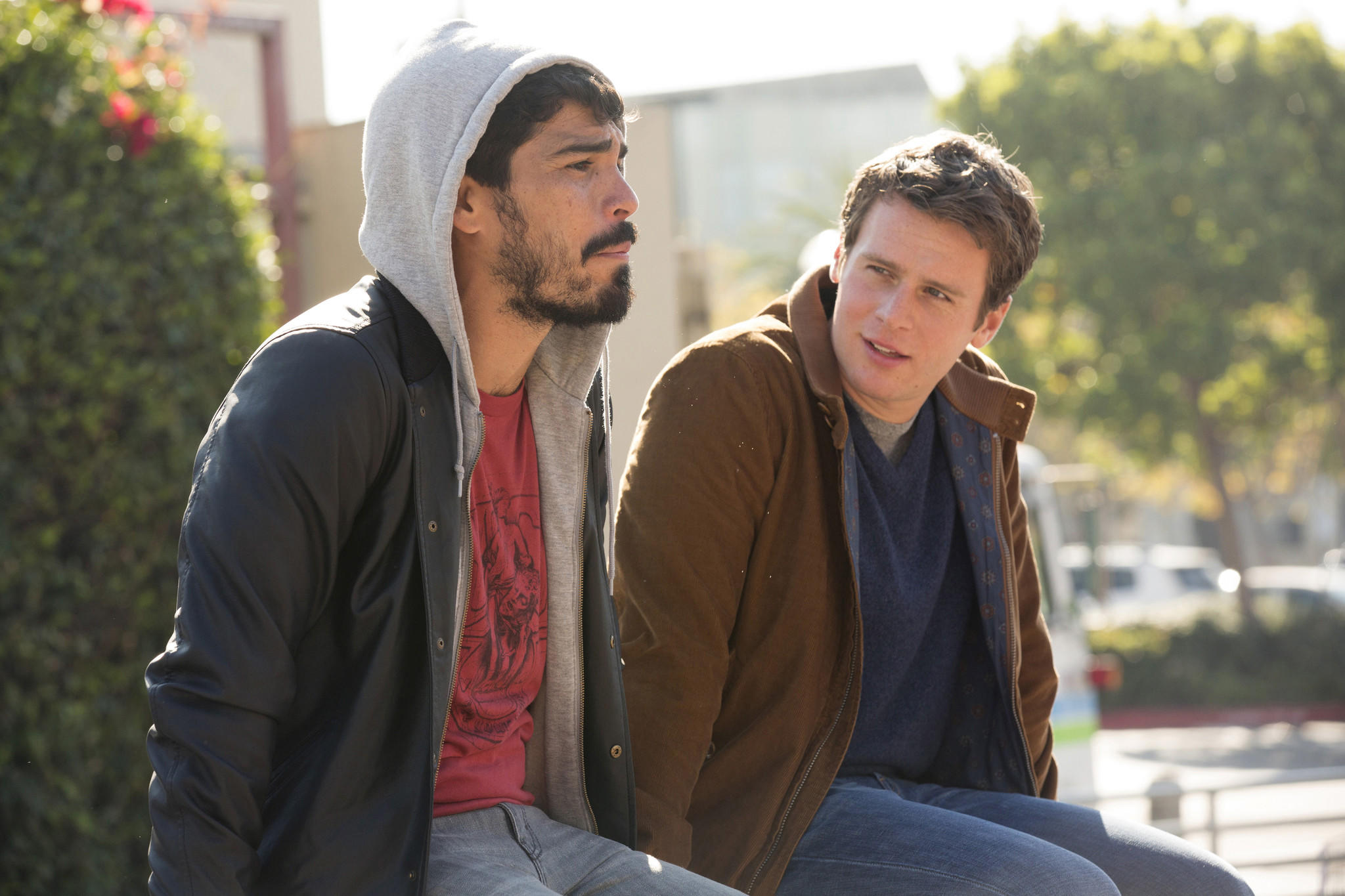 Left to Right: Raul Castillo and Jonathan Groff.