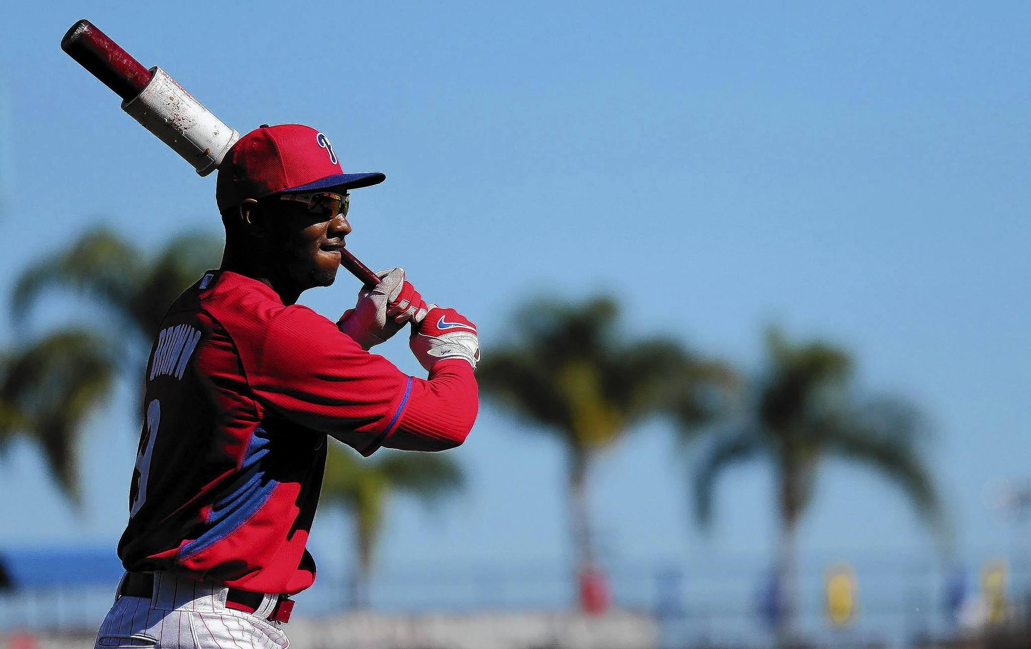 The Phillies' Dom Brown made the All-Star team last season.