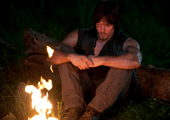 Daryl has all of the ingredients for S'mores except for marshmallows, chocolate and graham crackers