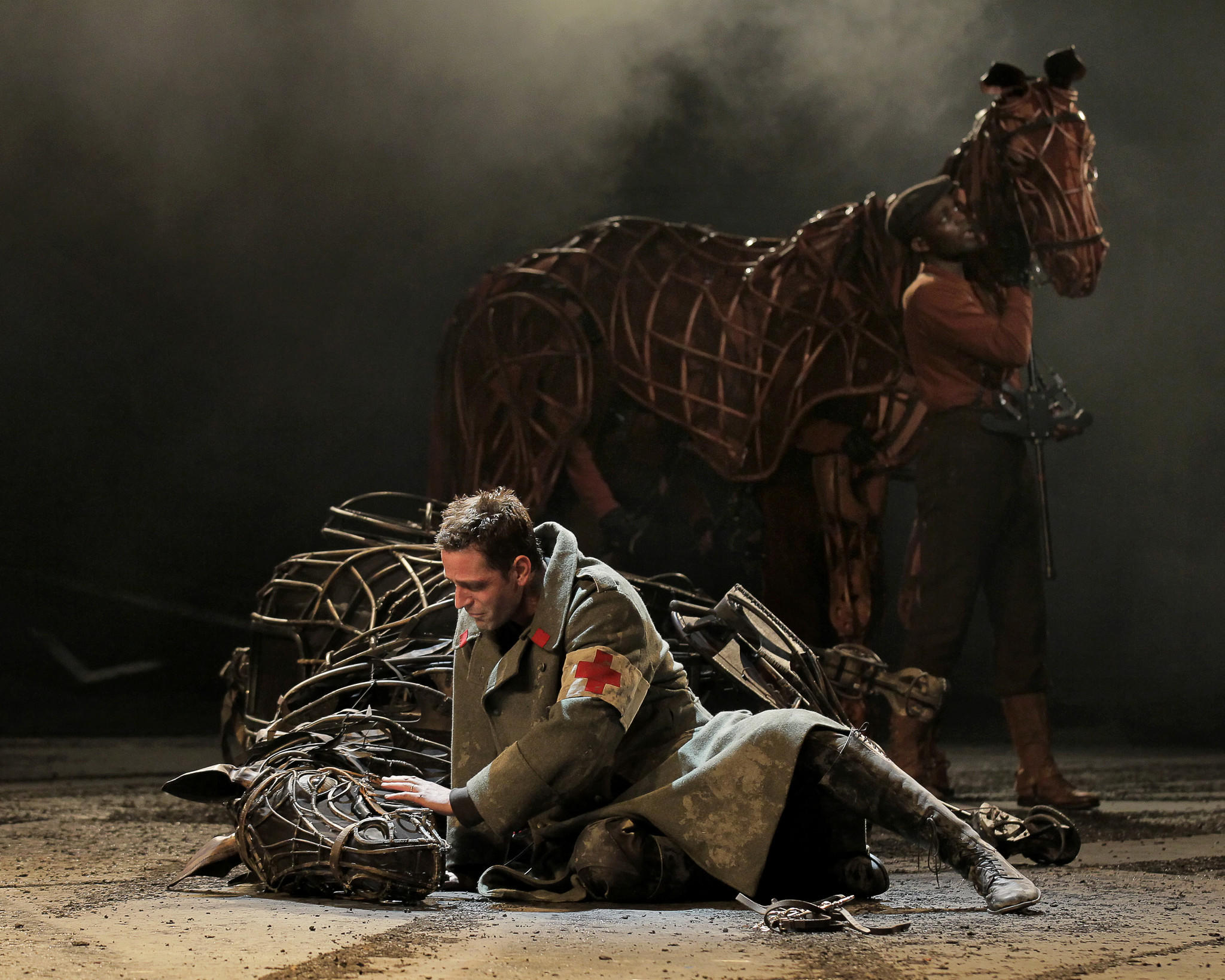 """A scene from the Broadway production of """"War Horse"""""""