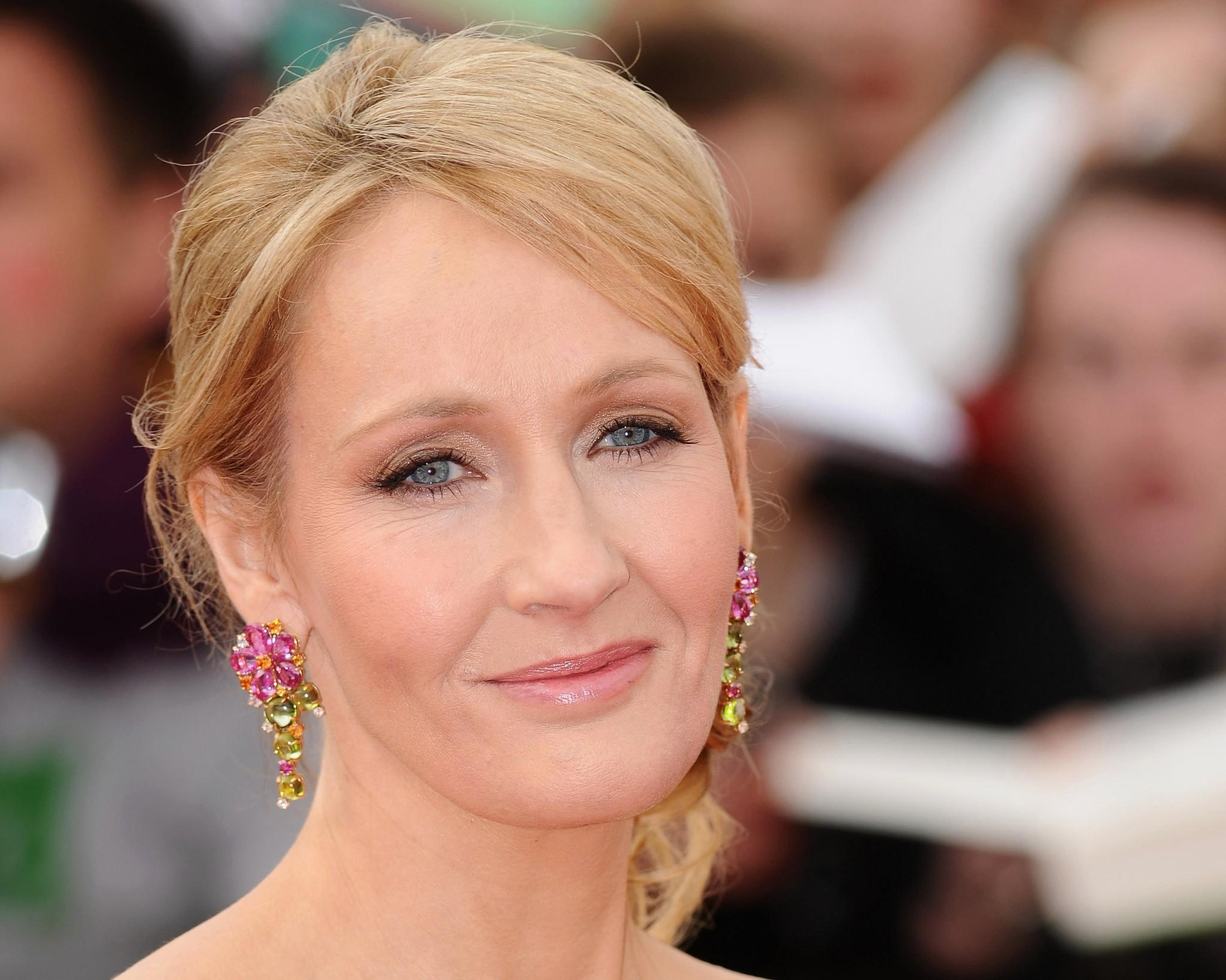 "Author J.K. Rowling attends the World Premiere of ""Harry Potter and The Deathly Hallows - Part 2"" at Trafalgar Square."