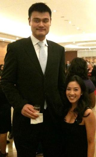 Yao Ming and Michelle Kwan